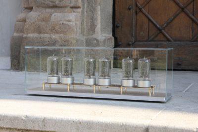 Zen Nixie Clock - Silver Satin case